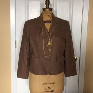 Style &Co taupe/gold jacket